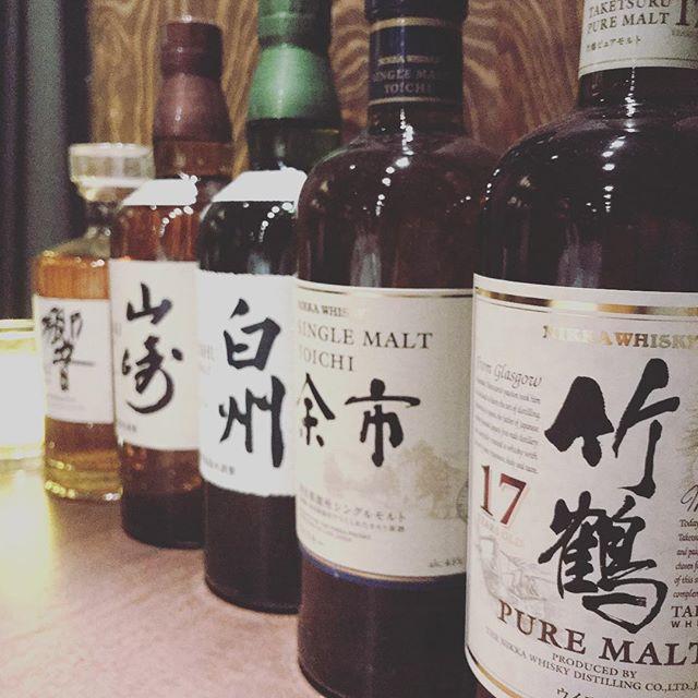 Japanese whisky!#Bar #Japanese#whiskey#JohnDoe#下北沢#竹鶴#余市#白州#山崎#響#yamazaki #hibiki #2月20日#new#open#山口 - from Instagram