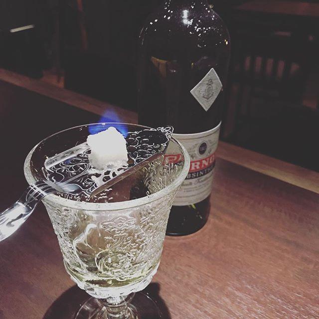 アブサン如何でしょうか?#absinthe #Bar #JohnDoe#アブサンスプーン#カクテル#cocktails #whiskey #山口県#広いカウンター #下北沢#bourbon #安い - from Instagram